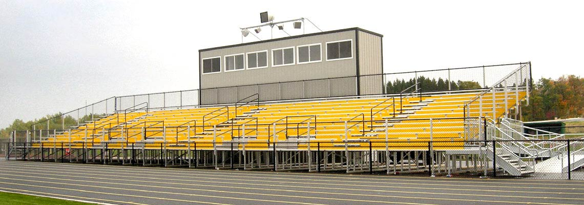 Custom bleachers elevated seating jw industries for Northwestern industries